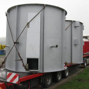 Anlagenteile 15 MW Biomasse-Heizanlage